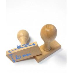 Sello madera 48x20mm